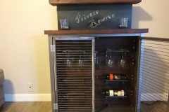 Industrial Style wine storage w/ hidden compartment
