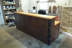 9' Industrial Reception Desk