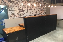 12' Industrial Style Reception Desk