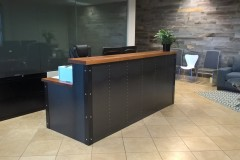 8'  Industrial Style Reception Desk